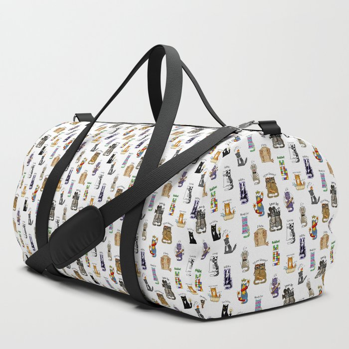 Science_cats_History_of_great_discoveries_Schrodinger_cat_Einstein_Physics_chemistry_etc_Duffle_Bag_by_Lets_Cats__SET_OF_3