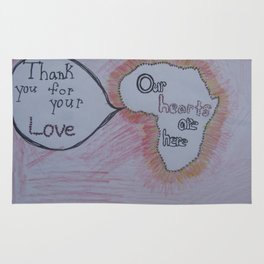 Our Hearts are Here: Africa Rug