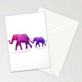 Mama and Baby Elephant Stationery Cards