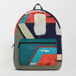 Stitch in Time - hexagon graphic Backpack
