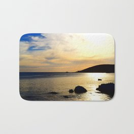 yellow sunset Bath Mat