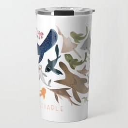 "FINconceivable Still ""Sharks"" Travel Mug"