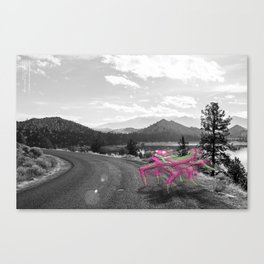 Unseen Monsters of Mount Shasta - Telitoptoo Lou Canvas Print