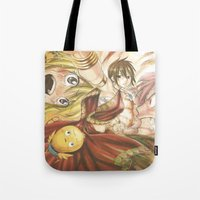 fairy tail Tote Bags featuring fairy tail eclaire by 6alba