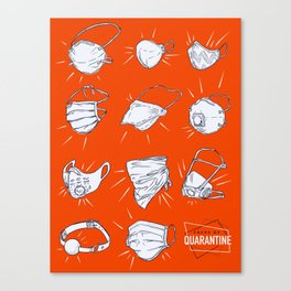 Faces of Quarantine Canvas Print