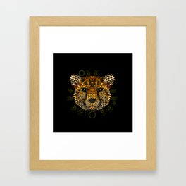 Cheetah Face Framed Art Print
