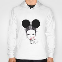 minnie Hoodies featuring Minnie Mouse by Bella Harris
