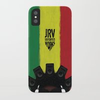 reggae iPhone & iPod Cases featuring Reggae King by JRV Distorted Works