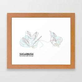Sugarbush, VT - Minimalist Trail Art Framed Art Print