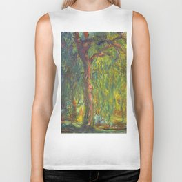 "Claude Monet ""Weeping Willow"" Biker Tank"