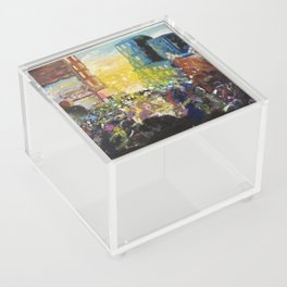 Lost in the crowd  Acrylic Box