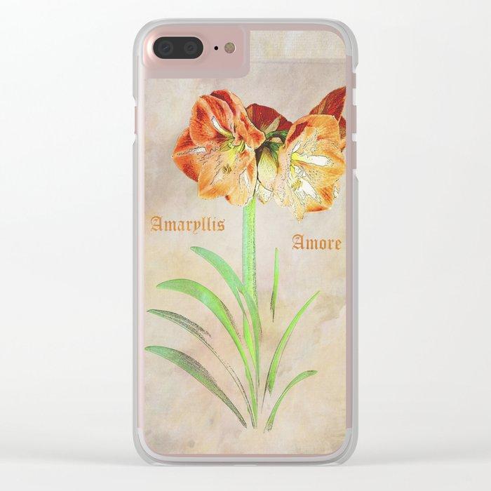 Amaryllis Amore Clear iPhone Case