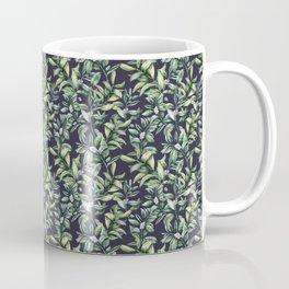 Snowberry on navy. Watercolor Coffee Mug