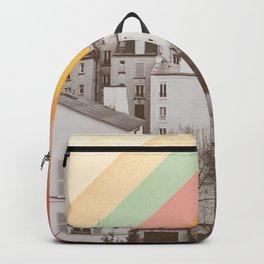 Rainbow Sky Above Paris Backpack