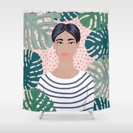 The Tropical Girl Shower Curtain