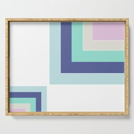 Simple geometric patchwork Serving Tray