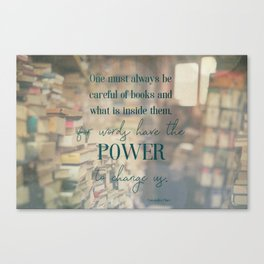 The power of books - Book Quote Collection Canvas Print