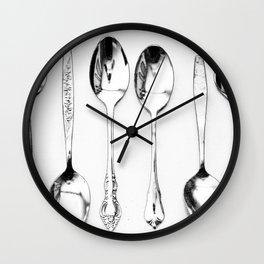 Vintage Spoons Wall Clock