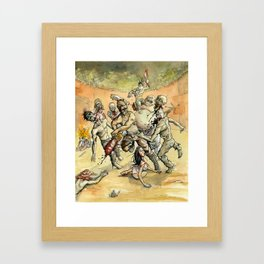 Zombie Head Hunters Framed Art Print