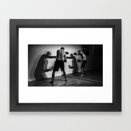 Shadow Boxing Framed Art Print