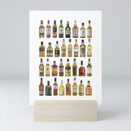 Whiskey bottles Mini Art Print