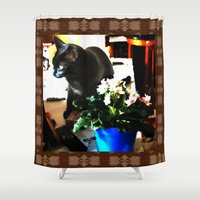 marley Shower Curtains featuring Get Down Marley by LEEMARIE