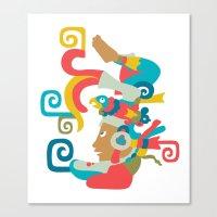 mythology Canvas Prints featuring Mayan Mythology by Meeta Panesar