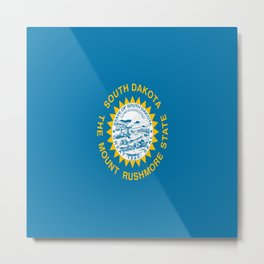 flag of south dakota,america,us,mount rushmore,dakotan,midwest,Sioux fall,rapid city,aberdeen,Pierre Metal Print