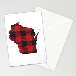 Wisconsin Plaid Flannel Stationery Cards