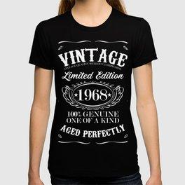 Vintage 1968 birthday gift T-shirt