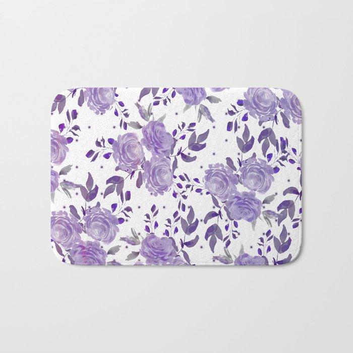 Bouquet of Purple Roses Bath Mat