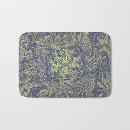 DISTORTED PASTEL PURPLE BRACKEN FERNS Bath Mat