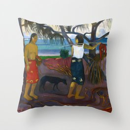 Under the Pandanus by Paul Gauguin Throw Pillow
