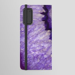 Purple Crystal Android Wallet Case