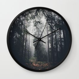 Dark paths Wall Clock