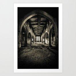 Abandoned Church Abercarn Art Print