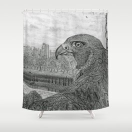 The Urban Peregrine Shower Curtain