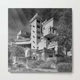 Habitat 67 04 - Mid Century Architecture Metal Print