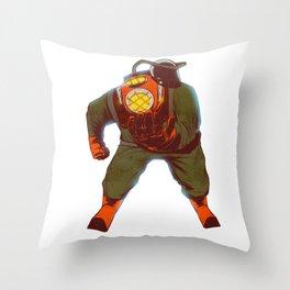Escafandro Throw Pillow