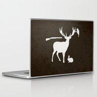 hunter Laptop & iPad Skins featuring Hunter by Julia Brnv