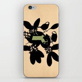 Massachusetts - State Papercut Print iPhone Skin