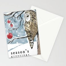 Lonely Owl Christmas Card Stationery Cards