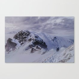 Hiking on top of The World Canvas Print