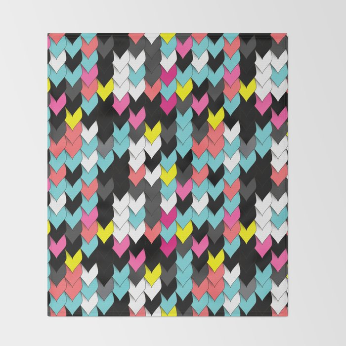 Seamless Ornamental Pattern In Memphis Colors Throw Blanket By New Colorful Throw Blankets