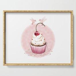 Cherry Cupcake Serving Tray