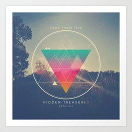 Seek Them Like Hidden Treasure - Proverbs 2:4 Art Print
