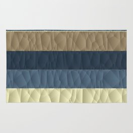 Cool Blue Taupe Color Pallet Quilted Texture Design Rug