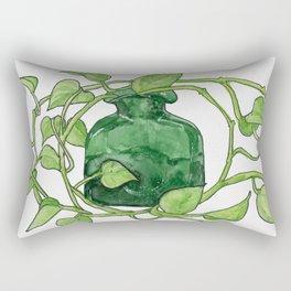 Blenko Glass & Plant Rectangular Pillow