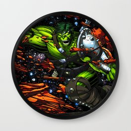 green rampage Wall Clock
