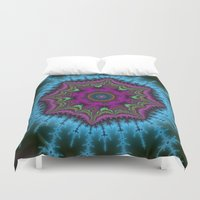 shield Duvet Covers featuring Fractal Shield by Warwick Wonder Works